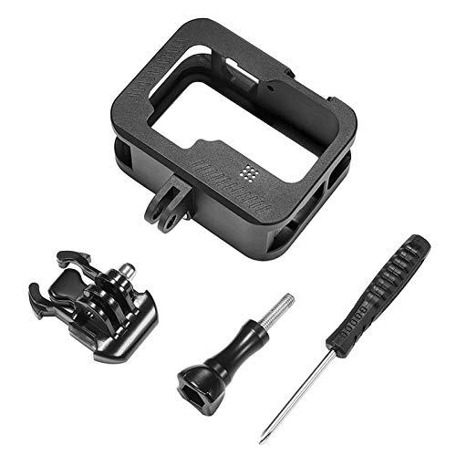 Case Käfigrahmengehäuse, Case protettive con Telaio in Lega di Alluminio con connessione di carico Compatibile con Accessori GoPro Hero 9 Black