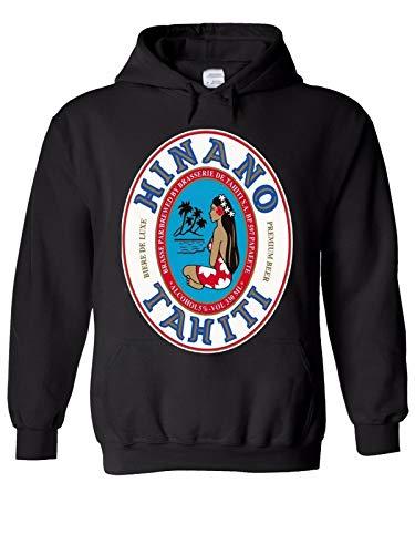 YOUE Hinano Beer Papeete Tahiti Men Women Unisex Top Hoodie Sweatshirt-Black,XL
