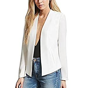 LRUD Damen 3/4 Ärmel Kurzer Taillierter Anzugjacke Colourful Beiläufig Blazer Business