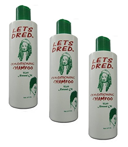 3x Lets Dred Conditioning Shampoo with Natural Oil 237ml (insgesamt -711ml)
