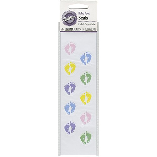 Wilton Baby Feet Envelope Seals
