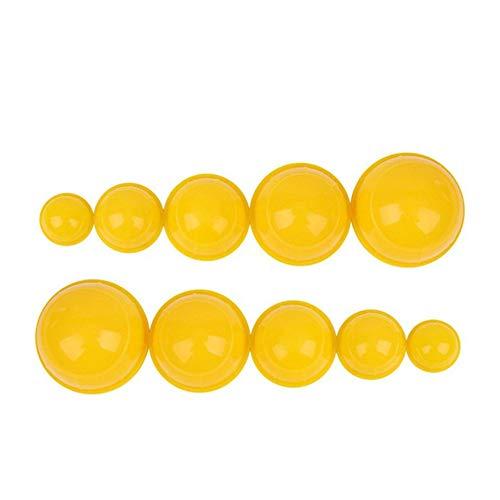12pcs / ensemble forte aspiration corps masseur de corps de vide ventouses ventouses anti cellulite vide ventouses tasse-jaune