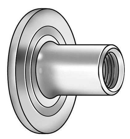 (100) 1/4-20 Weld Nut Round Base