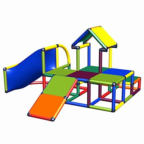 move and stic - Spielturm Ben mit Rutsche, Dach und Tunnel für den Garten oder das Kinderzimmer