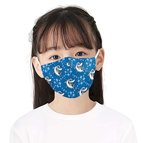 SHUANGA Kinder Mundschutz Face Cover Multifunktionstuch Motorrad Winddicht Atmungsaktiv Mundschutz Halstuch Schön Atmungsaktiv Sommerschal