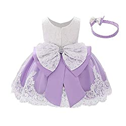 Lilac Color Tutu Dress With Rhinestones for Baby