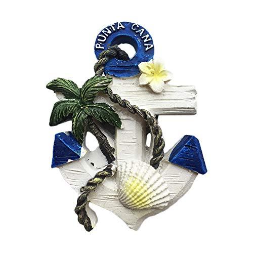 Punta Cana 3D Anker Dominica Kühlschrankmagnet Tourist Travel Souvenirs Handgemachte Harz Handwerk Magnetische Aufkleber Home Küche Dekoration Dominica Kühlschrankmagnet Sammlung Geschenk