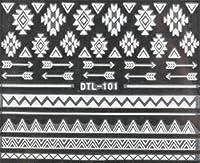 ネイティブネイルシール 【ホワイト】 ノルディック柄 白黒 ジェルネイル DTL-101