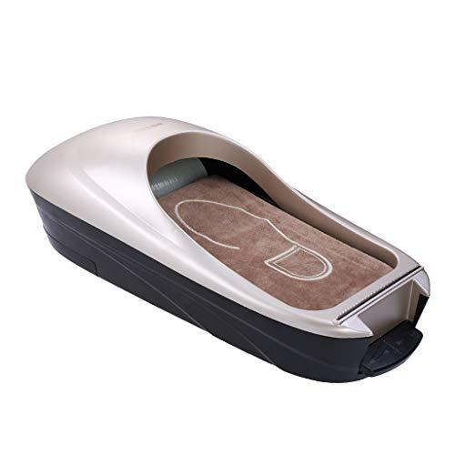 chiwanji Oficina en El Hogar Áreas de Higiene Dispensador Automático de La Cubierta del Zapato Máquina Kit Película - Plata, Individual