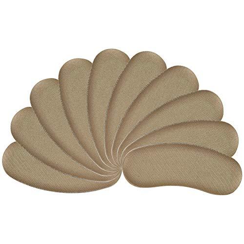 ASIV 5 Paia di Tacchi Solette Adesive, Cuscino del Tallone Pad, Soffice Antiurto Comfort Imbottiti Solette per Ridurre il Dolore, Cura Piede e Proteggi Tallone