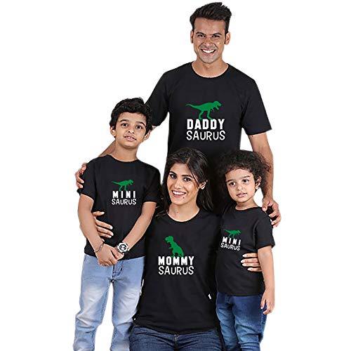 Traje a Juego para la Familia de Verano Padre e Hija Madre e Hija Camiseta Talla Grande Manga Corta Conjunto Familiar