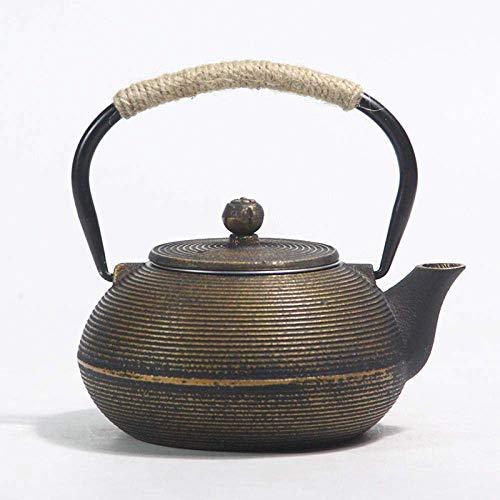 YNHNI Caldera de té Ollas Esmalte Caldera de Hierro Fundido de ebullición del Agua de la Tetera