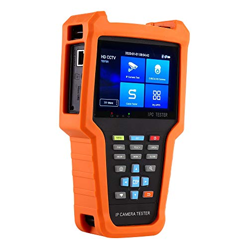 TOMLOV CCTV Tester Muti- Function 960 × 640 Touch Screen IP Camera Tester Handheld 4 pollici IPS Schermo 8MP HD portatile
