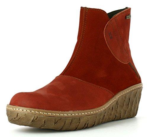 El Naturalista Botas de caña corta para mujer N5132, color Rojo, talla 37 EU