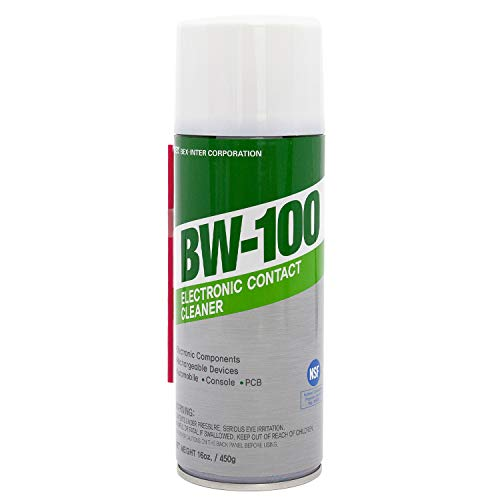 BW-100 Nonflammable Electronic Contact Cleaner aerosol Spray HFOs Quick Dry Upsidedown usable (16oz.)