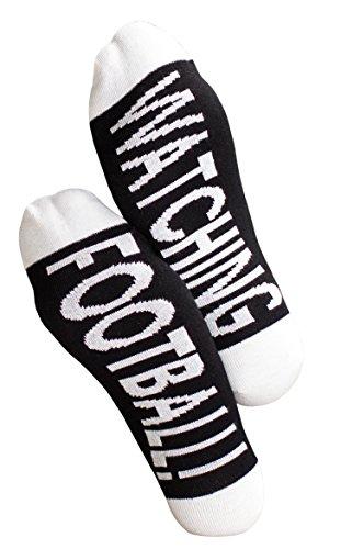 Clark Crown 1 Paar Under-Statement-Socks, Herrensocken mit witzigen Sprüchen, lustige Geschenke-Socken (One Size (41-45), 1 Paar Watching Football)