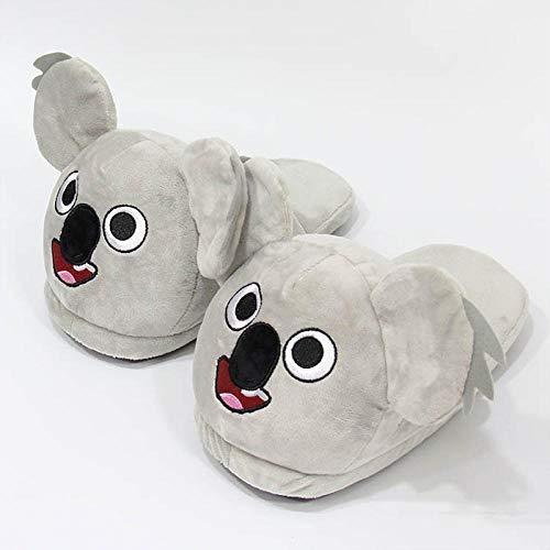 SHOESESTA Zapatillas de Estar por Casa Koala Pantuflas de Felpa Animales de Dibujos Animados Mujeres Invierno Hogar Calidez Antideslizante Ocio Zapatos de Piso-Tamaño Koala_Free (35-42)