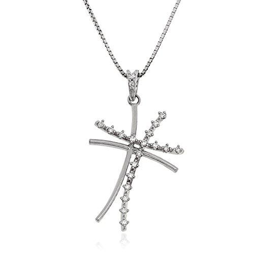 Gioiello Italiano - Zilveren ketting met kruisvormige hanger