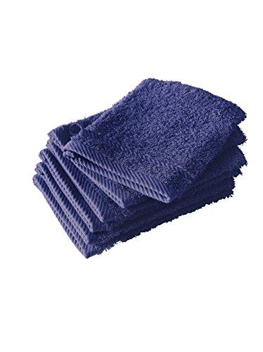 De Witte Lietaer Collection H 6Stück Waschlappen, Baumwolle blau Marineblau 15x 21cm