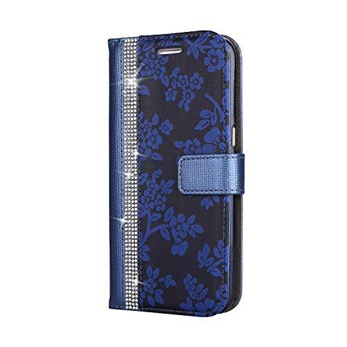 Galaxy S7 Edge Hülle, SONWO PU Leder Brieftasche Flip Schutzhülle, TPU Bumper Flip Schutzhülle Kompatibel Samsung Galaxy S7 Edge mit Karte Schlitz, Blau