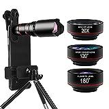 CHIBO HD Photography Phone Camera,Mobile Phone Lens Filter, 22X Monoculars, 180° Fisheye Lens, 120° Wide-Angle Lens, 20X Macro Lens, Mobile Phone, Mobile Phone, Smart Phone Universal