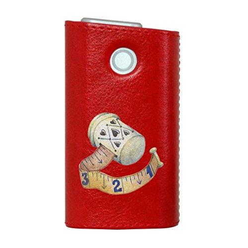 glo グロー グロウ 専用 レザーケース レザーカバー タバコ ケース カバー 合皮 ハードケース カバー 収納 デザイン 革 皮 RED レッド 裁縫 道具 014164
