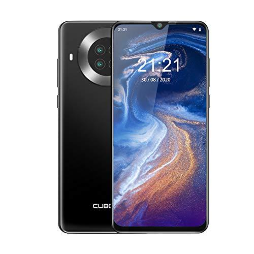 CUBOT Note 20 Pro Teléfono móvil 4G, 6,5 Pulgadas HD+ Pantalla, 8 GB RAM + 128 GB ROM, Octa-Core Procesador Helio P60, Android 10.0, 4200 mAh, Cuatro Cámara, Dual SIM, NFC, Face ID,Negro