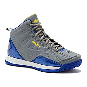 AND1 Kids Show Out Basketball Shoe, 7 M US Big Kid Gray/Blue/Yellow