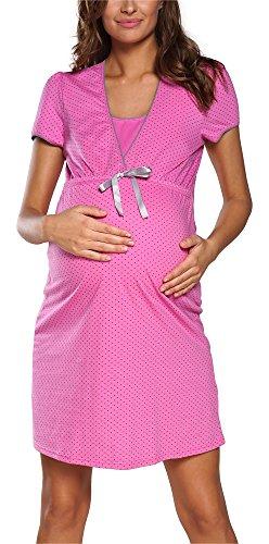 Italian Fashion IF Camicia da Notte Premaman F2L3C3T1 0114 (Amaranto, M)