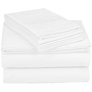 Coyuchi Cloud Brushed Organic Flannel Sheet Set, King, Alpine White