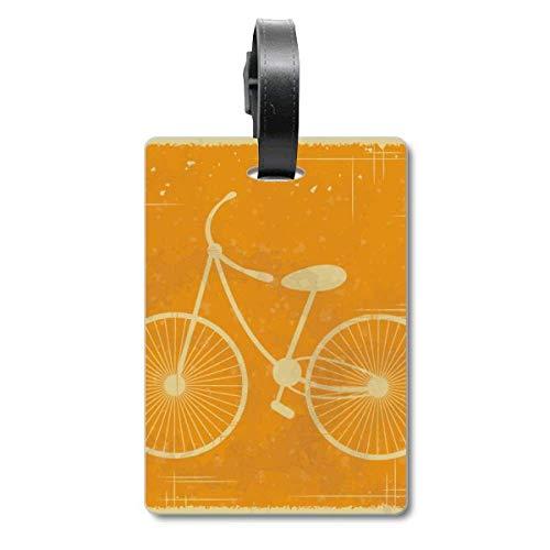 Fahrrad Sport Illustration Gelb Muster Cruise Koffer Bag Tag Tourister Identifikationsetikett