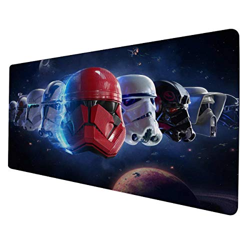 Large Gaming Mouse Pad Star Wars Battlefront 2-Non-Slip Rubber Base-Waterproof-3mm Thick-Portable Cloth Design-Anti-Fraying Stitched Frame-Smooth Gaming Mat-Great for Computer & Laptop-15.7x35.4 inch