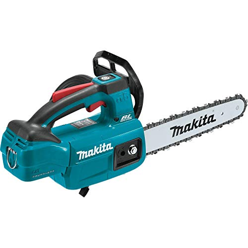 Makita XCU06Z LXT Lithium-Ion Brushless Cordless 10' Top Handle Chain Saw, Tool Only,Teal