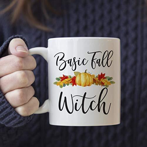 ZGNNN-EU Basic Fall Witch Mok. Herfst Koffie Beker In Uw Keuze Van Aangepaste Grootte En Kleur Voor Grappig, Door Melk & Honing