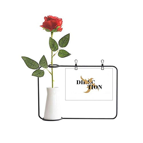 OFFbb-USA Recipiente de decoração de flores artificiais de rosas com centro de indicação de direção convergente