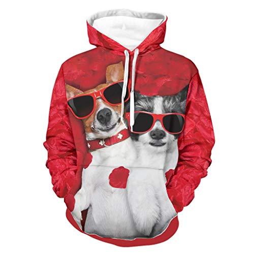 Sudadera para hombre Jack Terrier Retro – Pet Dog Comfort Blusa blanca 2XL