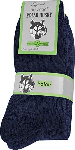 Polar Husky® 2 Paar EXTREM Wintersocken mit sehr hohem TOG Wert 2,34 Farbe Blau Größe 39/42