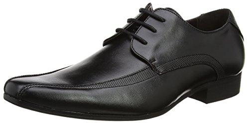 New Look Tramline Lace UP Formal, Zapatos de Cordones Derby Hombre, Negro (Black 1), 41
