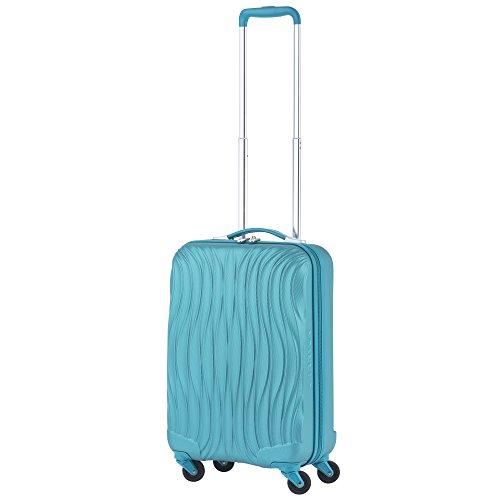 CarryOn Wave - Handgepäck 55cm - Reisekoffer mit USB anschluss - Cabintrolley - 32 Liter Turkisch