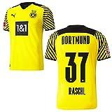 PUMA Borussia Dortmund BVB Heimtrikot 2021 2022 Home Trikot Sponsor BL Logo Herren Tobias Raschl 37 Gr L