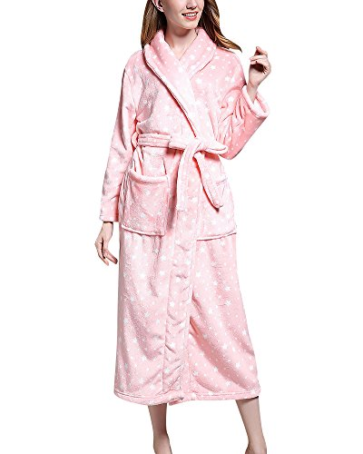 Albornoz Bata de Baño Sauna para Mujeres y Hombres Mangas Largas Kimono Vestidos Robe
