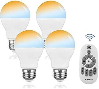 LED電球 調光調色可能 12W リモコン操作 E26口金 100w-120w形相当 一般電球 led照明 昼白色 電球色 常夜灯 遠隔操作 広配光タイプ 省エネ 4個セットテーブルランプ(2.4Gリモコン搭載)