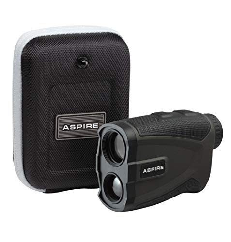 Aspire Golf Platinum Laser Rangefinder with Slope, 6X Magnification, 1000 Yards, Pin Seek, Target Lock, Vibration Alert, Noise Filtration, IPX5 Water Resistance — Case and Battery Included