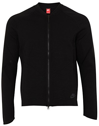 Nike Sportswear Tech Knit Black Mens Bomber Jacket Size L