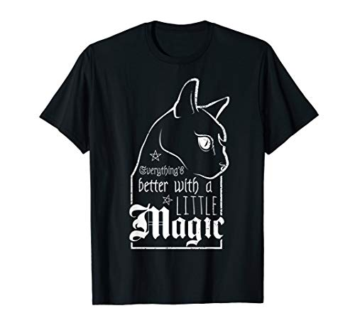 Witch a little Magic   Goth Gothic   Witch Wicca Hexe T-Shirt