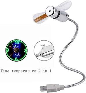 LONGJUAN-C MINI MINI Tiempo de ventilador de ventilador Tiempo de temperatura Regalo creativo con dispositivo de enfriador...