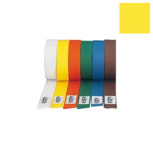 KWON Budogürtel 4 cm breit 240 gelb