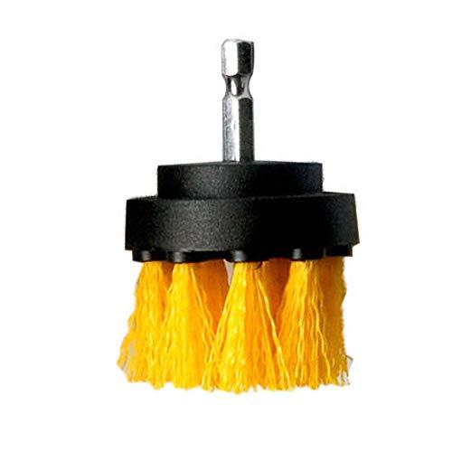 nulala Cepillo de taladro, cepillo de perforación y almohadilla de limpieza, cepillo para limpiar superficies de baño de coche, lechada, bañera, ducha, esquinas de azulejos, cocina