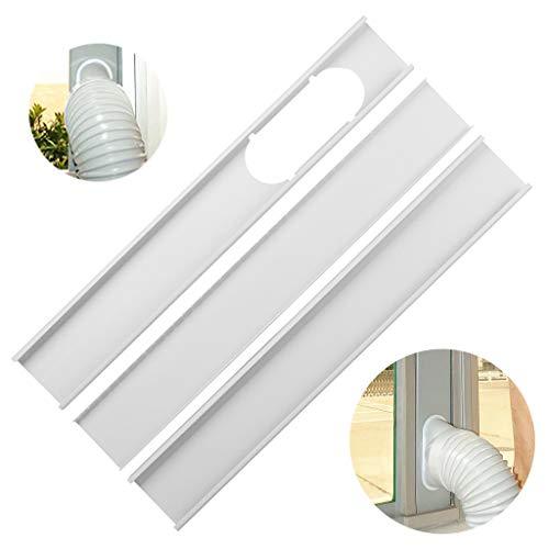 Wanshop Fenster-Kit-Platte geeignet für alle tragbaren Klimageräte mit einem Luftauslass Fensteradapter für tragbare Klimaanlage Dachfenster Flügelfenster keine Bohrlöcher erforderlich (190cm)
