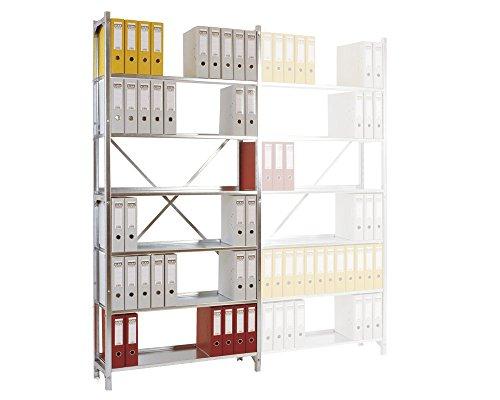 SMARTFACTS Archivregal aus Metall mit 7 Stahlböden, HxBxT 260 x 96 x 30 cm